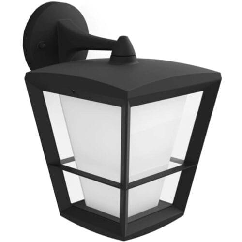 Aplica exterior LED RGBW integrat Philips Econic HUE, 15W (79W), 1150 lm, lumina alba/color, IP44, metal/sticla, varf jos, 000008718696170588