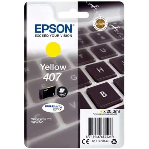 Cartus cerneala Epson C13T07U440, yellow, 1.9k, WorkForce Pro