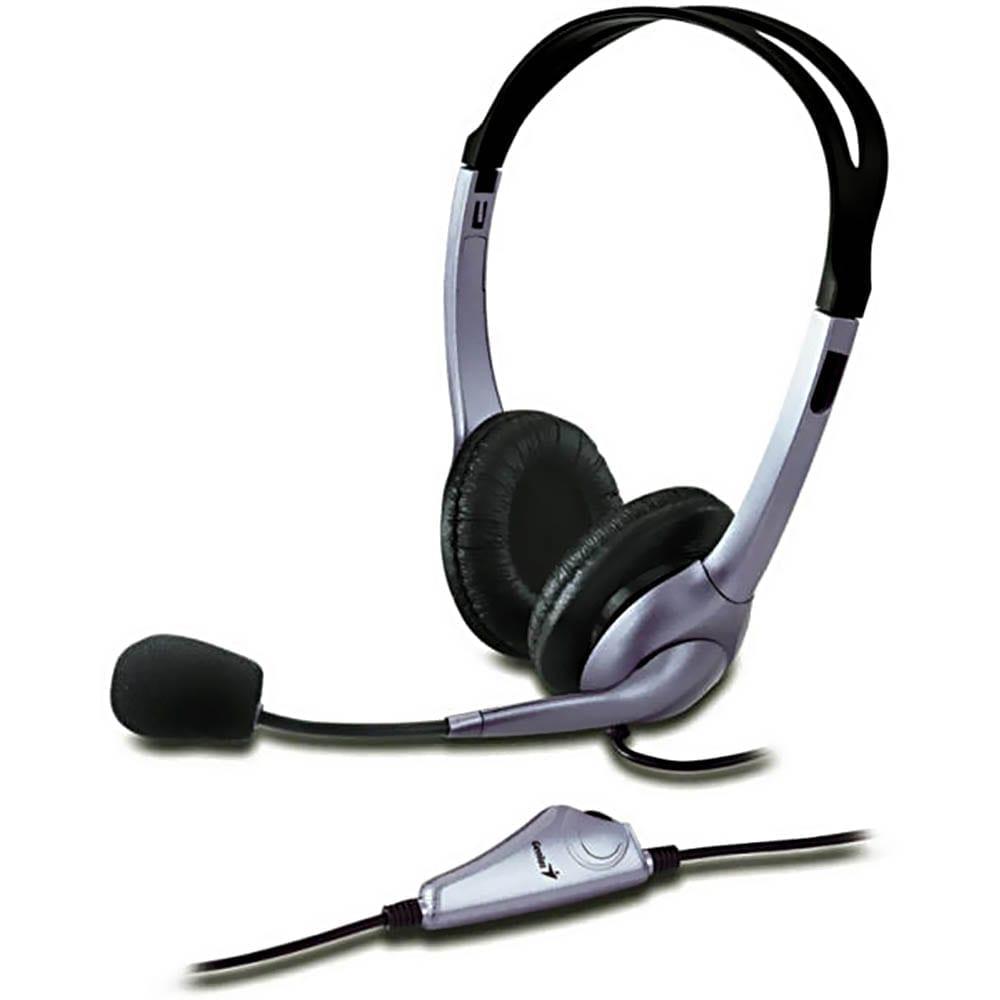 Casti audio Genius HS-04S, cu fir, Jack 3.5 mm x 2, microfon, utilizare multimedia