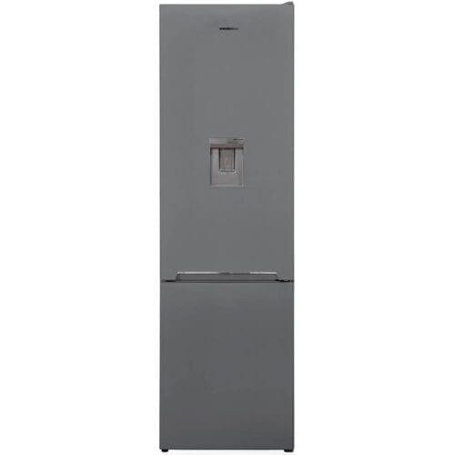 Combina frigorifica Heinner HC-V286SWDF+, 286 L, Clasa F, Dozator apa, Less frost, 180 cm, Argintiu