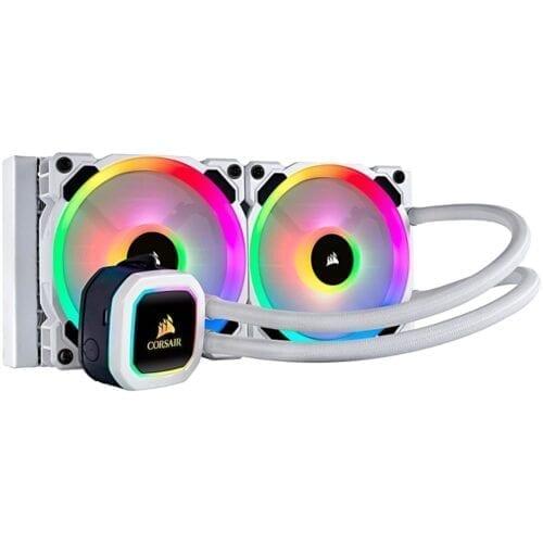 Cooler Procesor Corsair Hydro Series™ H100i, Liquid, RGB Platinum, 240mm, Elite White