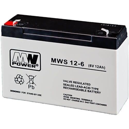Acumulator AGM, 12Ah, 6V, seria MW Power, MWS12-6
