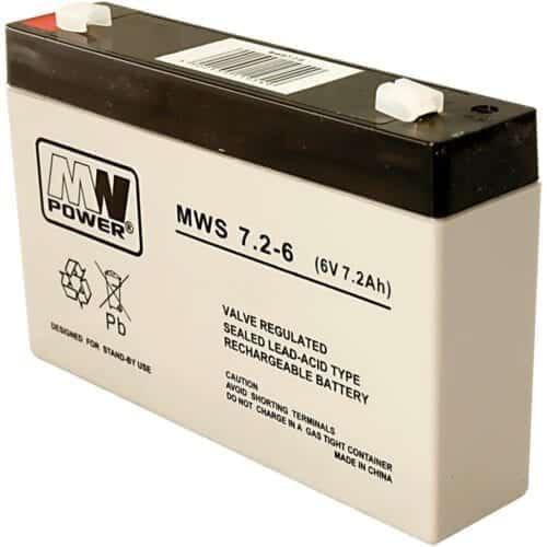 Acumulator AGM, 7.2Ah, 6V, seria MW Power, MWS7.2-6