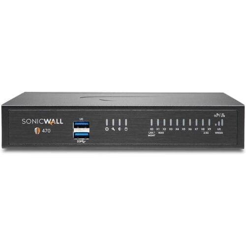Firewall SonicWall TZ470, 8xGbE, 2xUSB 3.0, firewall throughput 3.5Gbps