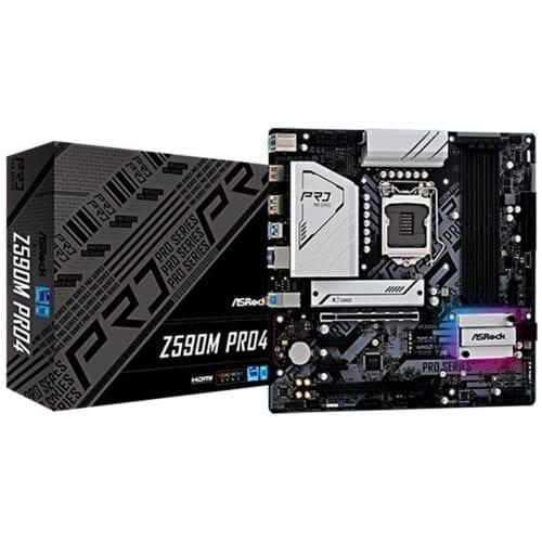 Placa de baza Asrock Z590M Pro 4, procesor Intel® Core™, DDR4, LGA 1200, Z590M PRO4