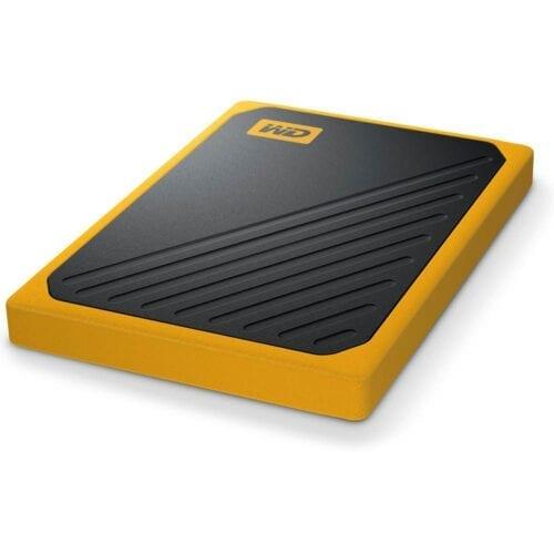 SSD Extern Western Digital, WD My Passport GO, 2TB, USB 3.0, Negru, Galben