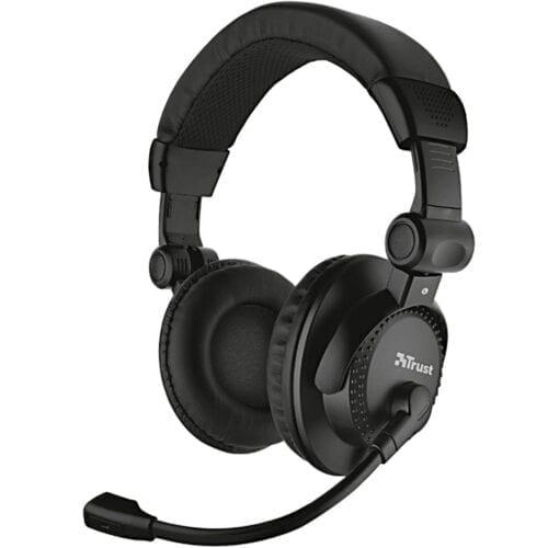 Casti audio cu microfon Trust Como Headset pentru PC si laptop, Negru