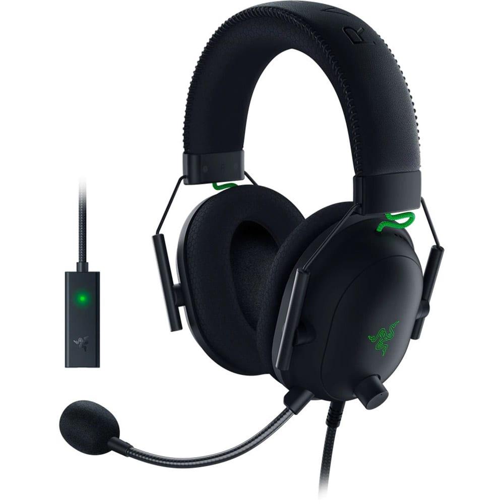 Casti gaming Razer BlackShark V2, USB SoundCard, Multiplatforma, THX Certified, Drivere 50mm, Microfon Cardioid