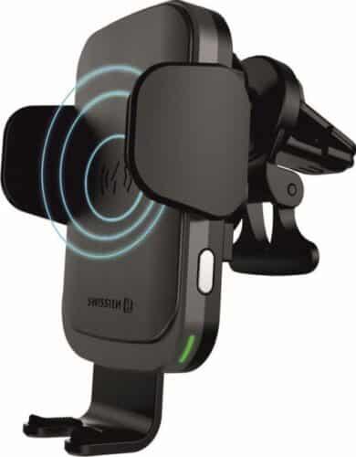 Swissten W2-AV5 / Kit Auto Suport grila aerisire+Incarcator Wireless Smart