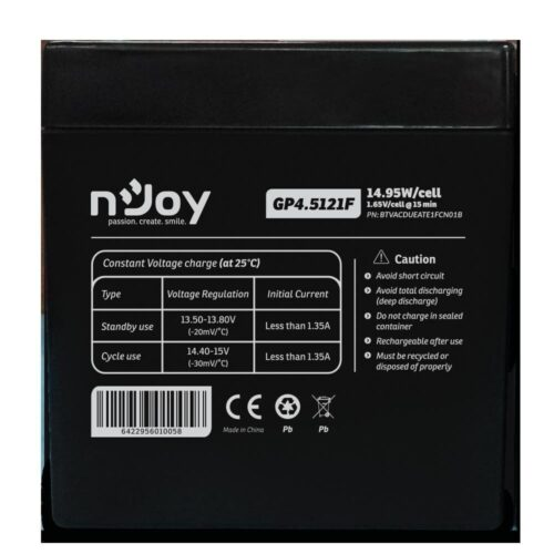 Acumulator nJoy GP4.5121F 12V  Capacitate 14