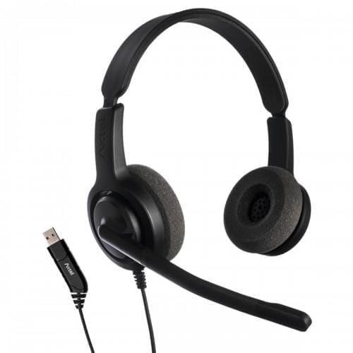 Casti cu microfon Axtel Voice USB28 duo NC