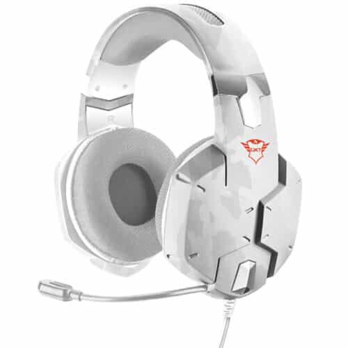 Casti cu microfon Gaming Trust GXT 322W, cablu 100 cm, White camouflage