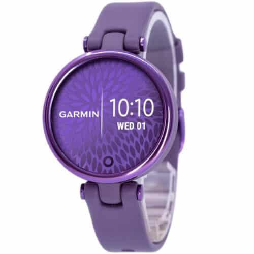 Ceas smartwatch Garmin LILY, Midnight Orchid / Deep Orchid, curea silicon