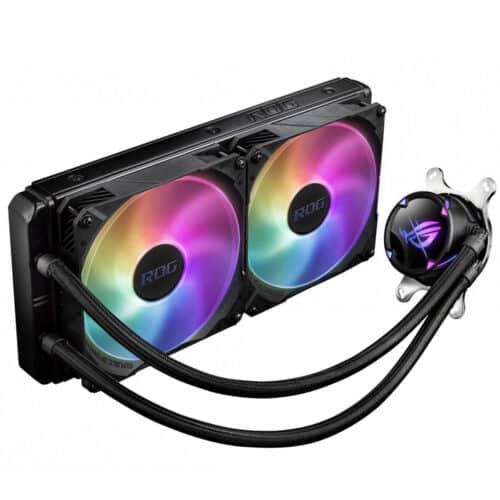 Cooler procesor ASUS ROG STRIX LC II 280 ARGB, racire cu lichid, iluminare RGB