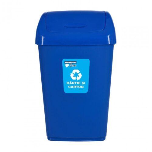 Cos Gunoi+Capac Batant Pentru Reciclare Selectiva 50L