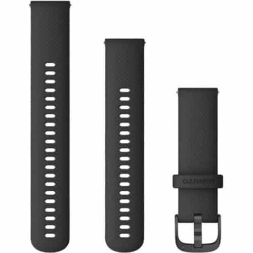 Curea ceas smartwatch Garmin 22mm, Black/Gunmetal