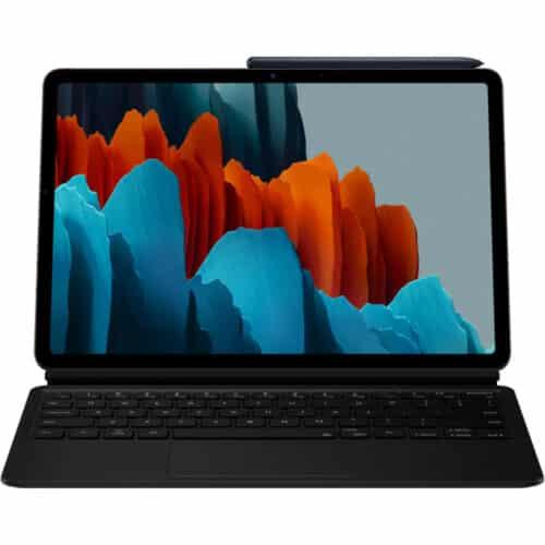 Husa de protectie Samsung Bookcover Keyboard pentru Galaxy Tab S7 Plus, Negru