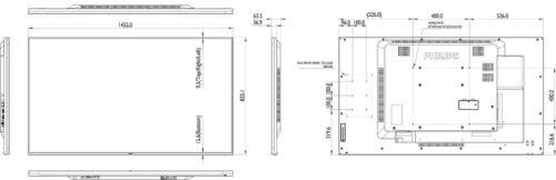 "Ecran profesional LFD Monitor Signage Philips 65"" FHD 24/7 450nitnit"