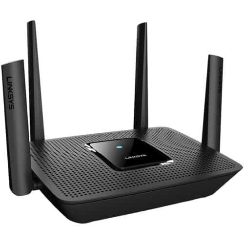 Router Wireless Linksys MR9000 Tri-Band Mesh WiFi 5, Gigabit, 5 GHz, MU-MIMO, Negru