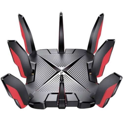 Router wireless TP-Link Archer GX90, AX6600, Tri-Band Gigabit, Wi-Fi 6, 4×4 MU-MIMO, 8 antene Wi-Fi