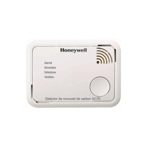 Detector monoxid carbon Honeywell XC70-RO-A; garantie 7 ani; culoare alba;