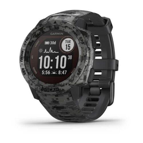 Smartwatch Garmin Instinct Solar Camo Edition GPS Watch Graphite Camo
