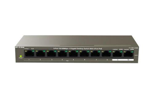 IP-COM 8-Port10/100Mbps+2 Gigabit Desktop Switch With 8-Port PoE F1110P- 8-102W