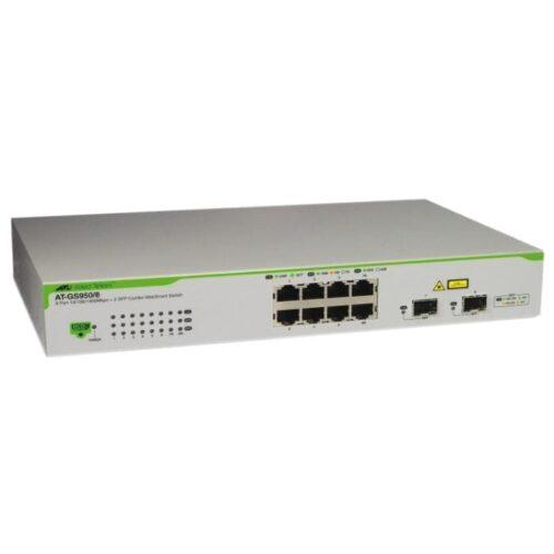Switch ALLIED TELESIS GS950 8 porturi Gigabit 1 port SFP