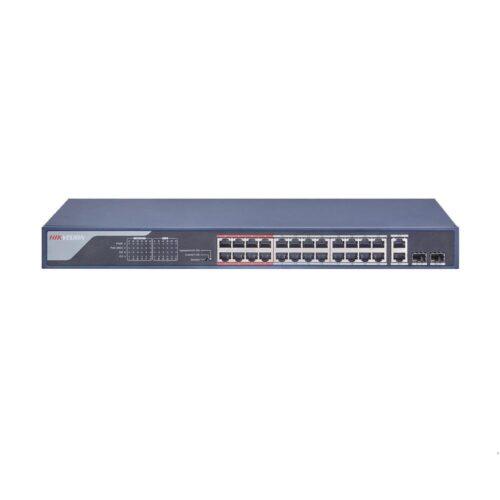Switch POE 24 porturi Hikvision DS-3E0326P-E(B); fara management; L2