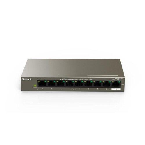 Tenda 9-Port 10/100Mbps Desktop Switch With 8-Port PoE