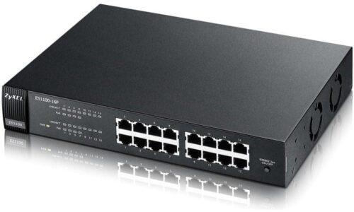Zyxel ES1100-16P 16-port FastEthernet Unmanaged PoE Switch