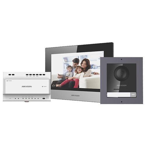 Kit videointerfon IP Hikvision DS-KIS702