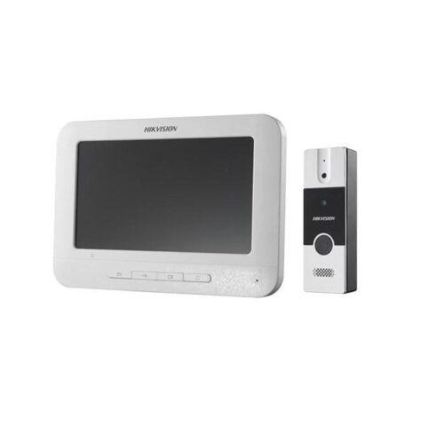 Set videointerfon color Hikvision DS-KIS202; montaj pe 4fire; setulesteformat din