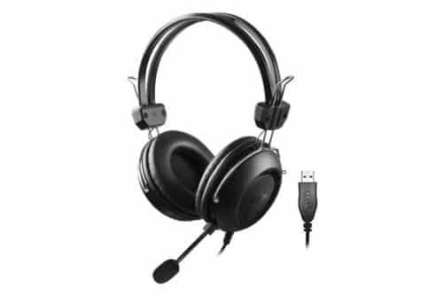 A4Tech Headphones HU-35 Stereo USB Black