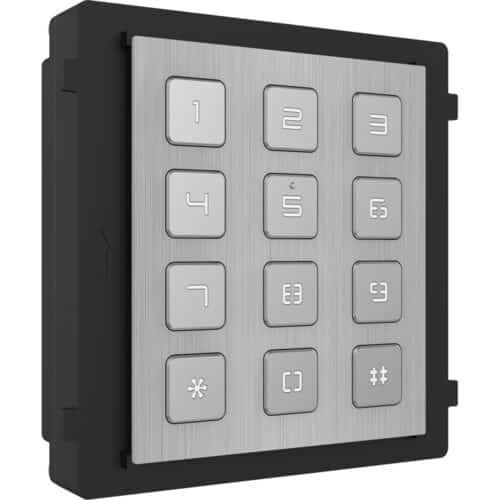Modul de extensie videointerfon cu tastatura Hikvision DS-KD- KP/S, iluminare pe timp de noapte, protectie: IP65, IK7