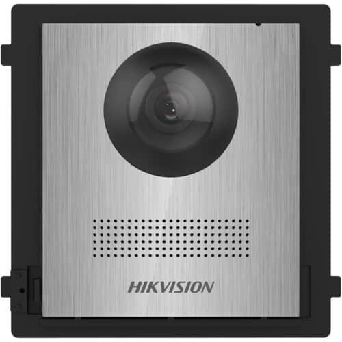 Panou videointerfon modular de exterior Hikvision DS-KD8003-IME1/NS, fara buton apelare, camera wide angle 180° Fish eye 2MP