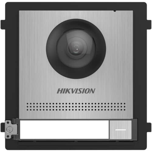 Panou videointerfon modular de exterior Hikvision DS-KD8003-IME1-S, buton apelare, camera wide angle 180° Fish eye 2MP