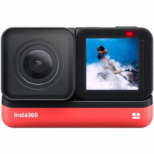 Camera video sport Insta360 ONE 4K Edition, 4K, 360°, Waterproof, HDR, Voice Control, AI Editing, Negru/Rosu