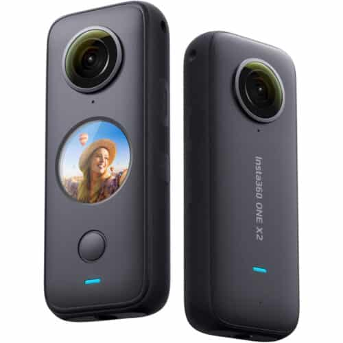 Camera video sport Insta360 ONE X2 , 5.7K, 360° , Waterproof, Mod Steadycam, InstaPano, Slow Motion, Negru