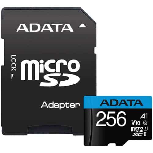 Card de memorie ADATA Premier, MicroSDXC, 256GB, UHS-I, Class 10 + Adaptor