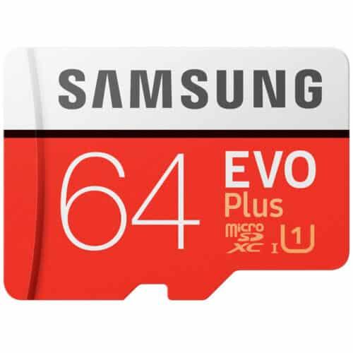 Card de memorie Samsung MicroSDXC EVO Plus, 64GB, UHS-1, 2020, Clasa 10 + Adaptor SD