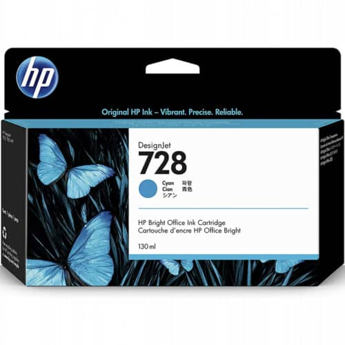 Cartus cerneala HP 728, F9J67A, 130 ml, DesignJet Ink, Cyan