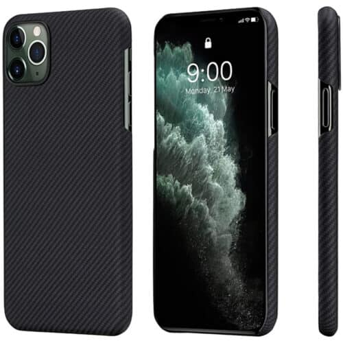 Husa telefon Pitaka Air pentru Apple iPhone 11 Pro, Negru