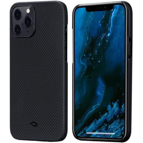 Husa telefon Pitaka Air pentru Apple iPhone 12, Negru