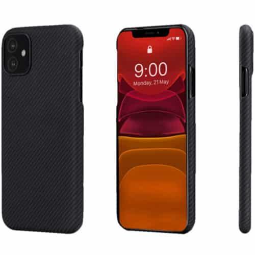Husa telefon Pitaka Air pentru Apple iPhone 12 Pro Max, Negru