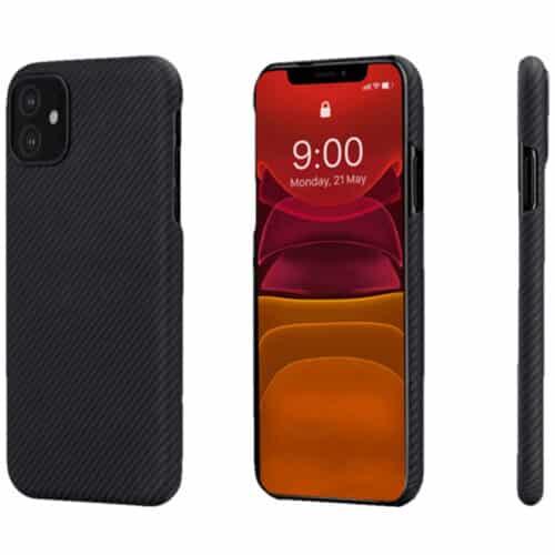 Husa telefon Pitaka Air pentru Apple iPhone 12 Pro, Negru