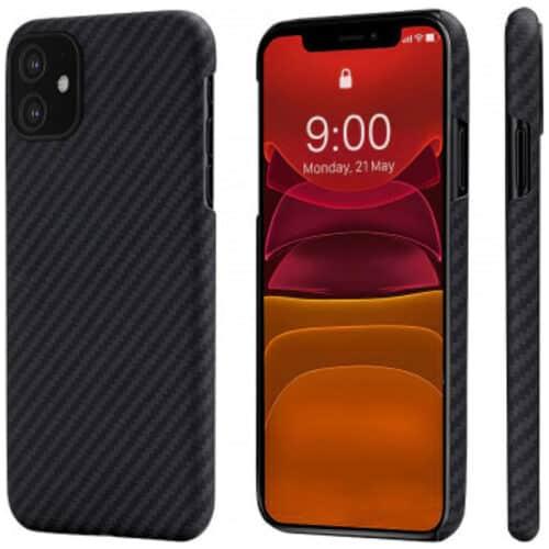 Husa telefon Pitaka MagEZ pentru Apple iPhone 11, Negru