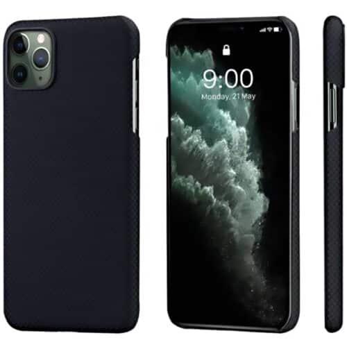 Husa telefon Pitaka MagEZ pentru Apple iPhone 11 Pro Max, Negru