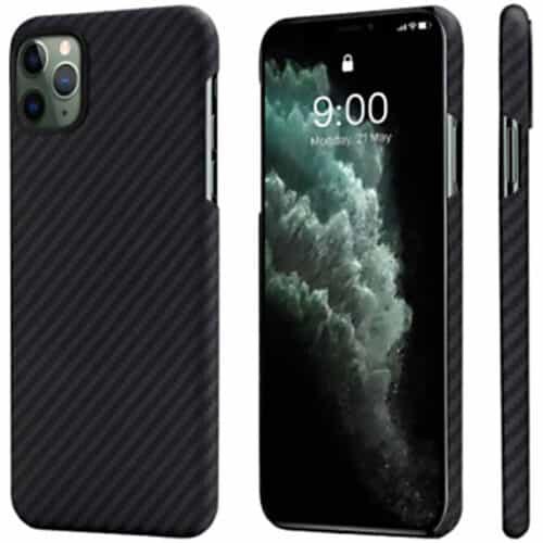 Husa telefon Pitaka MagEZ pentru Apple iPhone 11 Pro, Negru