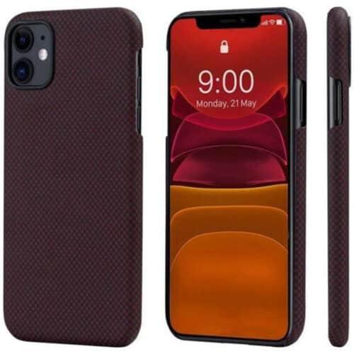 Husa telefon Pitaka MagEZ pentru Apple iPhone 11 Pro, Negru / Rosu
